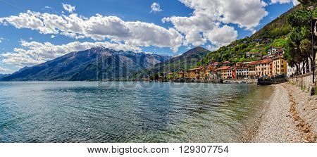Lago di Como (Lake Como) Domaso panoramic view