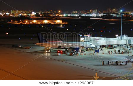 General View Of Airport At Night Time