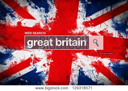Great Britain - web search bar glossary term on internet