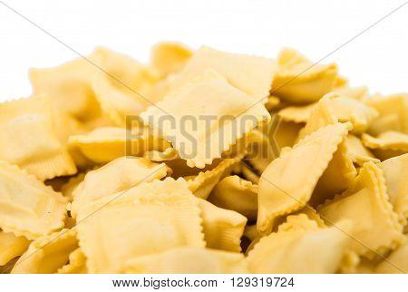 ravioli isolated on white backgroundy, tradition, sprig,