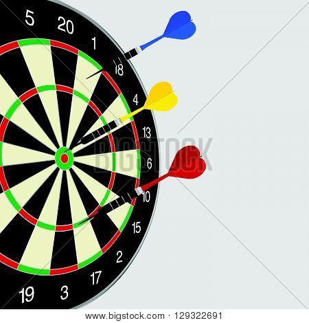 dartboard art in color cool game illustration
