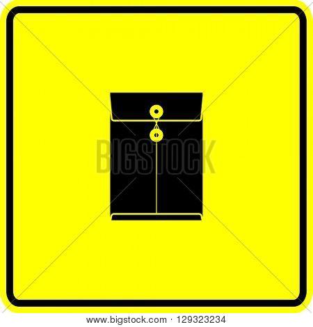 manila envelope sign