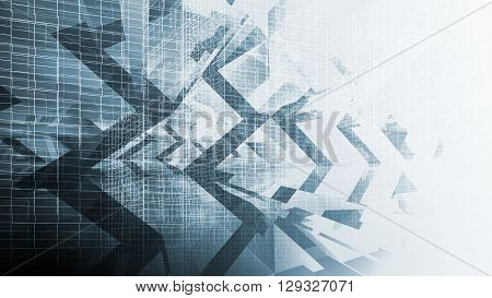 Abstract Blue Digital Background, High-tech