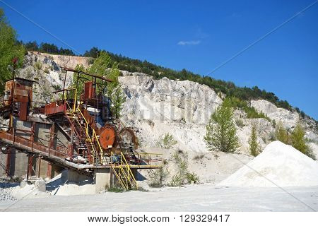 surface mine for the extraction of sand