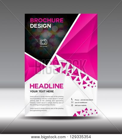 Pink Vector brochure flyer and cover template polygon vector illustration