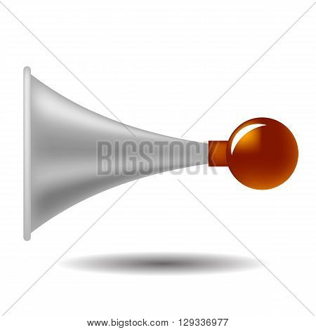 Vector Old Horn Icon Isolated on White Background