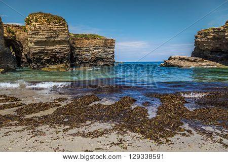 Rocky coast of Spain Galicia  Europe .