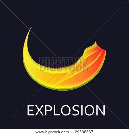 Creative logo explosion. Fire flame logo and symbol Design.Vector explosion logo template.