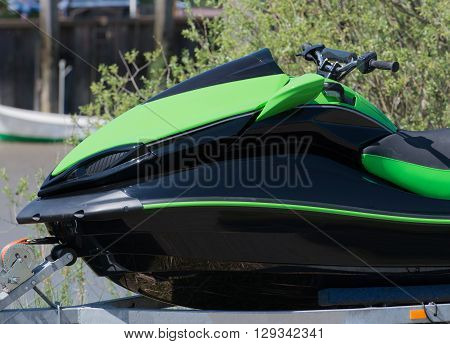 Jet Ski on a trailer for transport
