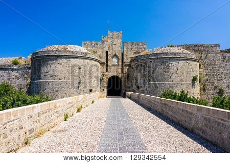 Castle Gates Rhodes Greece