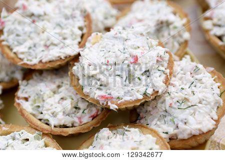 Tartlets With Salad
