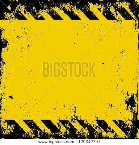 grunge hazard background with copy space  - vector illustration