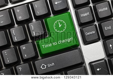 Conceptual Keyboard - Time To Change (green Key)