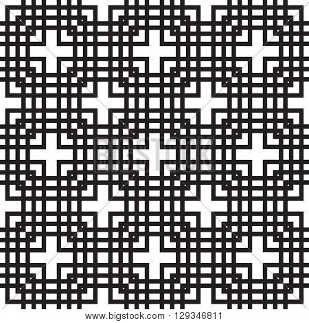Black and white seamless tile background