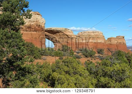 variety of geological formations in Arches National Park, Utah, USA