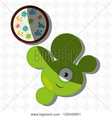 bacteriology concept design, vector illustration eps10 graphic