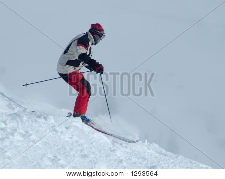 Skiing Down The Hill