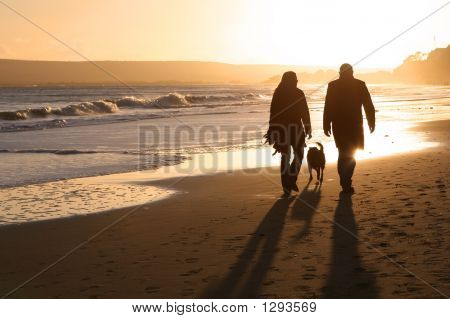 Silhouettes On The Sand