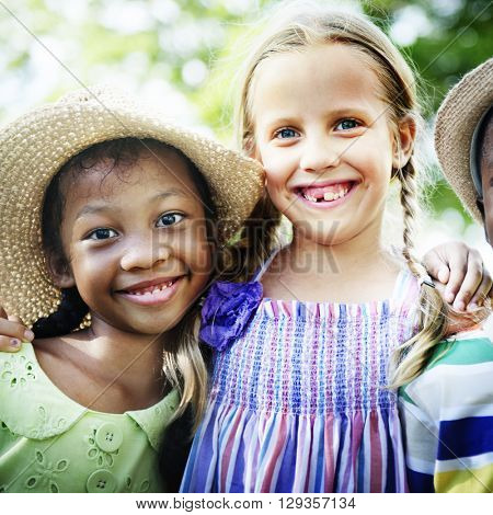 African Descent Kids Child Happiness Offspring Concept