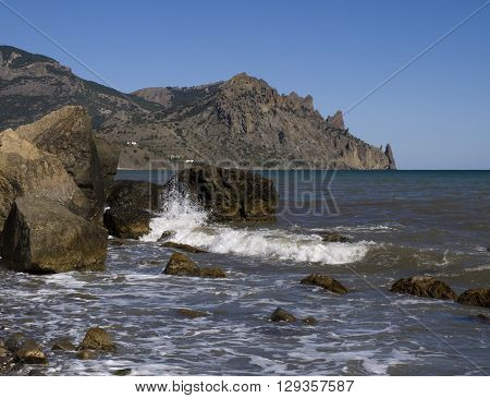 Reserve Karadag on the Black Sea in Crimea.(Kurortnoe.Crimea.)