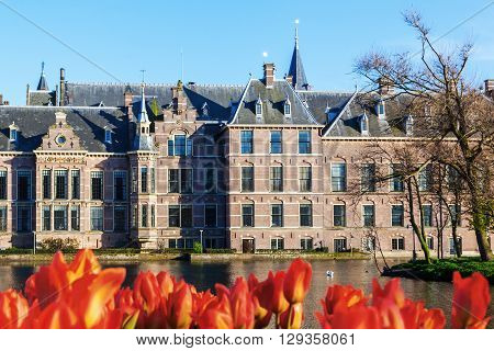 Binnenhof the seat of the Dutch parliament in The Hague Netherlands