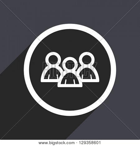 flat design forum vector icon