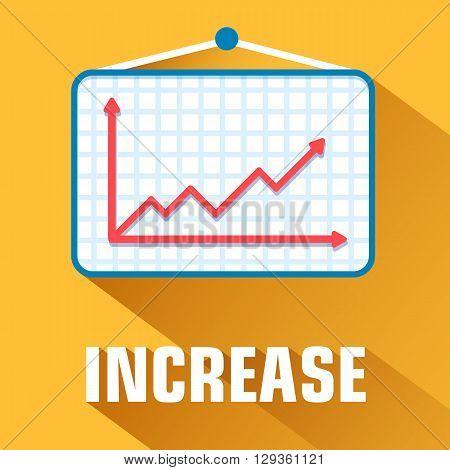 Flat Increase Background Concept. Vector Illustration