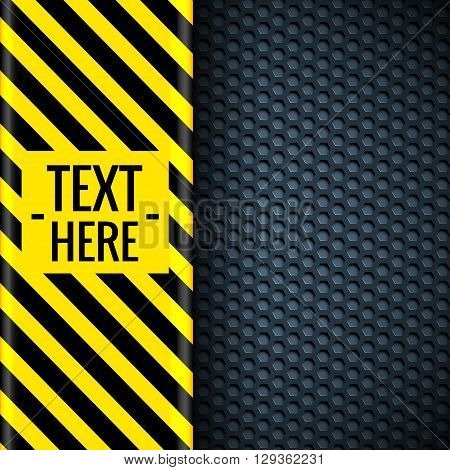 Danger Tech Abstract Background Concept. Vector Illustration