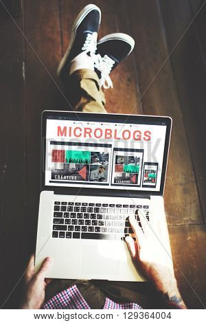 Microblogs Blogging Social Media Online Concept