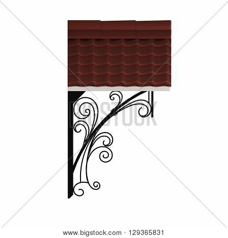 3D illustration wrought a canopy over the entrance