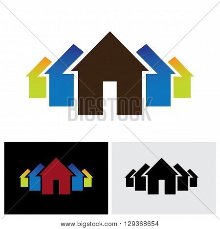 home and property vector logo icon in eps 10 format