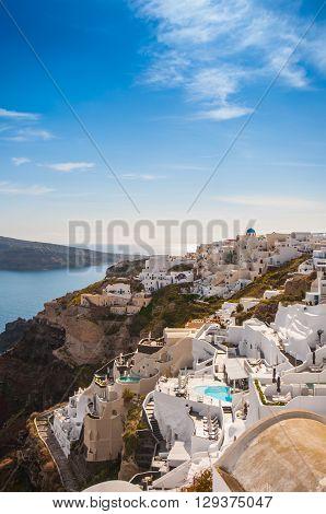 City view of Oia, Santorini island, Greece