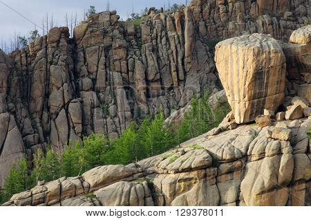 Landscape in Gorkhi Terelji National Park, Mongolia