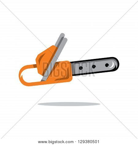 Equipment for cutting of wood Isolated on a White Background
