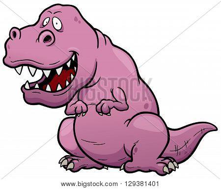 Vector illustration of Dinosaur cartoon character - T-rex