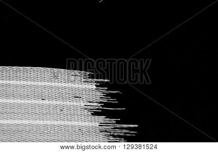 Abstract black and white lines background with frayed edges