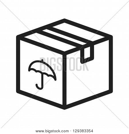 Box, package, closed icon vector image. Can also be used for logistics. Suitable for mobile apps, web apps and print media.