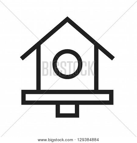 Bird, house, spring icon vector image. Can also be used for pet shop. Suitable for mobile apps, web apps and print media.
