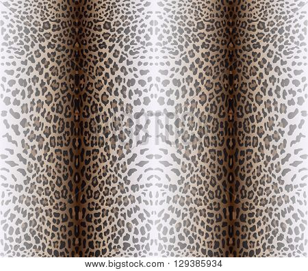 Vector illustration of seamless pattern with leopard skin. Leopard background. Panther seamless pattern. Animal seamless pattern. Fashion textile print. Animal wallpaper.