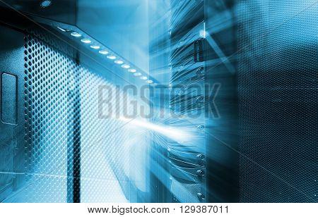 ranks of modern server hardware in the data center