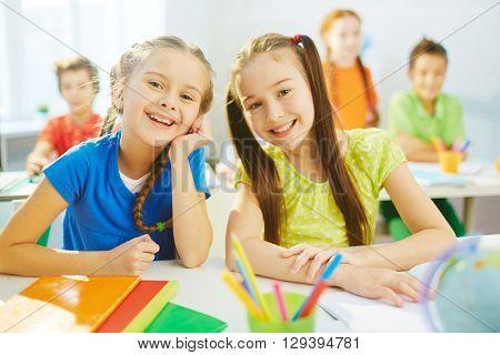 Pretty classmates