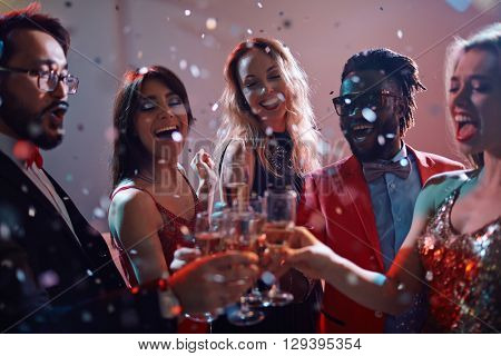 Joyful clubbers