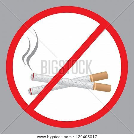 No smoking sign. addiction symbol vector illustration.