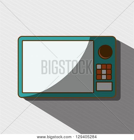 microwave oven design, vector illustration eps10 graphic