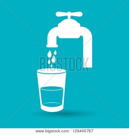 tap water dispenser design, vector illustration eps10 graphic