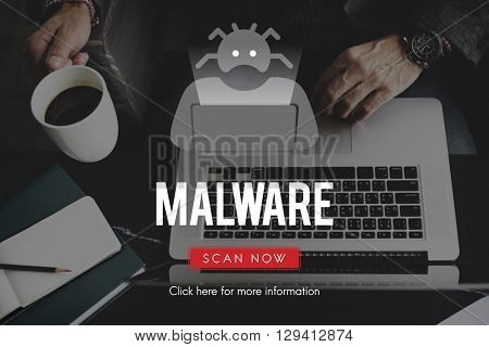Spyware Malware Scam Spam Virus Concept