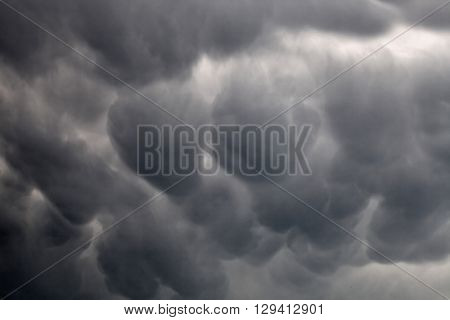 Mammatus clouds background