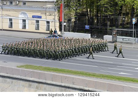 Battalion Of Paratroopers Marching