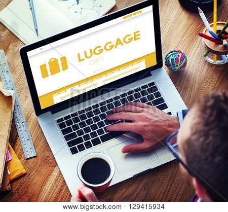 Luggage Baggage Bag Suitcase Traveling Concept