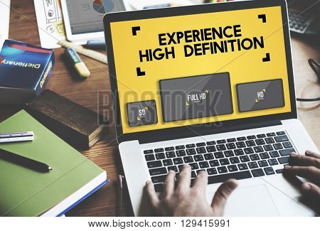 Experience High Defination Broadcasting Media Concept